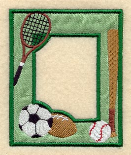 sports photo frame in the hoop