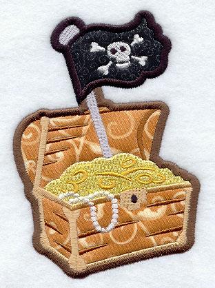 Treasure Chest Embroidery Designs