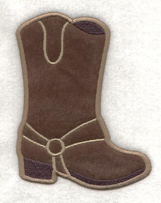 Cowboy Boot (Applique) - Machine Embroidery Designs at