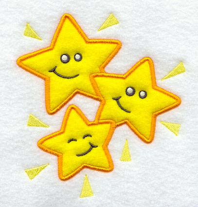 Happy Star Bunch (Applique)