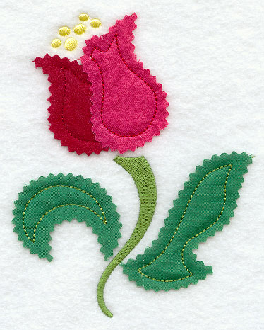 Crochet Tulip Applique Only New Crochet Patterns