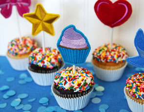 Embroidery Library - Cupcake Toppers, (In-the-Hoop)