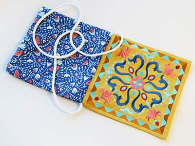 Free project instructions to create a crossbody purse.