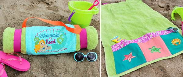 beach towel designs. Free Project Instructions To Create A Beach Towel Roll-up. Designs O