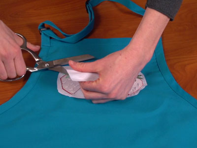 Free project instructions: Embroidering on Aprons