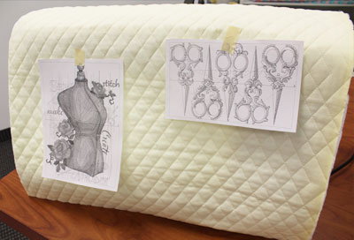 Free project instructions for creating a sewing machine cover.
