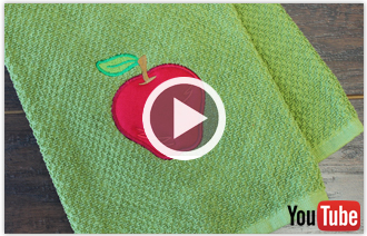 Free video with instructions on how to embroider a classic applique design.