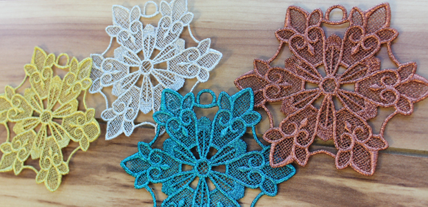 Free project instructions to embroider with metallic thread.