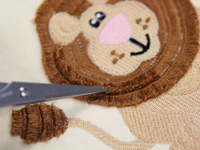 Free project instructions to create fringe embroidery.