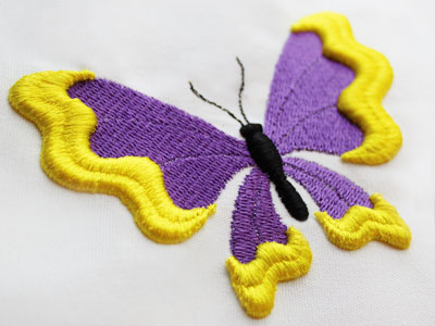 Free project instructions to embroider with puff foam.