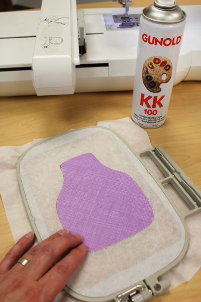 Free project instructions on how to embroider in-the-hoop bottle aprons.