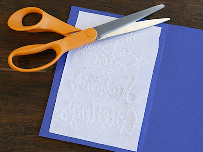 Free project instructions for embroidering on cardstock.