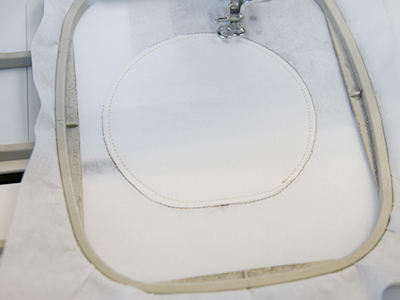 Free project instructions to create an in-the-hoop coaster.