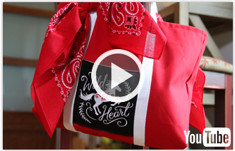 Free video with instructions on how to create a two-pocket tote bag.