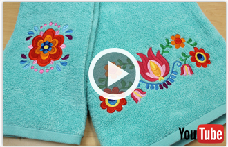 Free video with instructions on how to embroider on terry cloth towels.