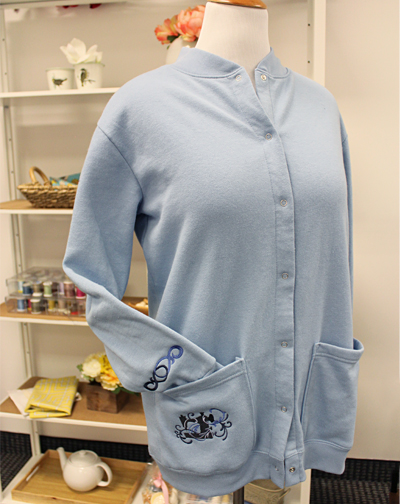 Free project instructions on how to embroider on sweatshirts.