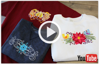 Free video with instructions on how to embroider on sweatshirts.