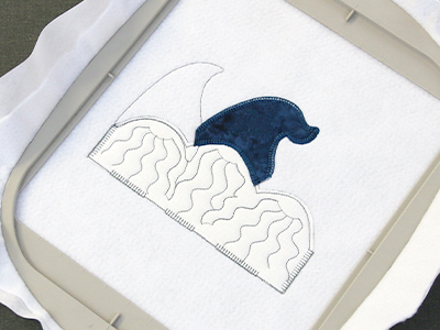 Free project instructions for machine embroidery heirloom applique