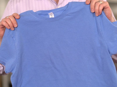 Free project instructions to embroider on t-shirts.