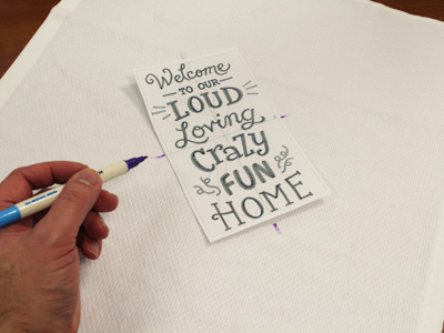 Free project instructions for making a handy-loop dishtowel.