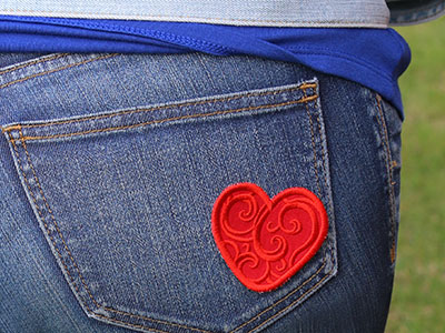 Free project instructions to create an In-the-Hoop patch.