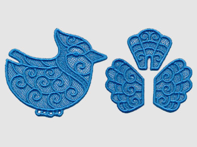 Free project instructions to create a 3D lace bird.