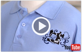 Free video with instructions on how to embroider on pique.