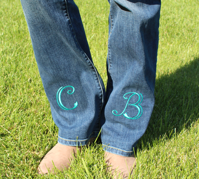 Free project instructions on how to embroider on denim.
