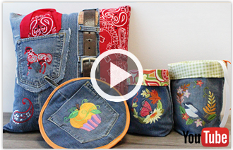 Free video with instructions on how to embroider on denim.