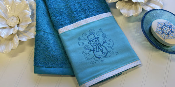 Free project instructions on how to create embellished towels.