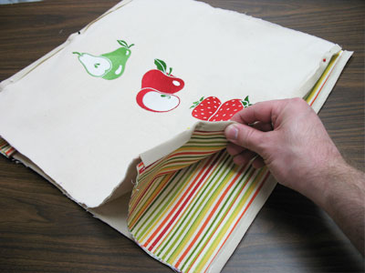 Free project instructions to make a go green grocery tote.