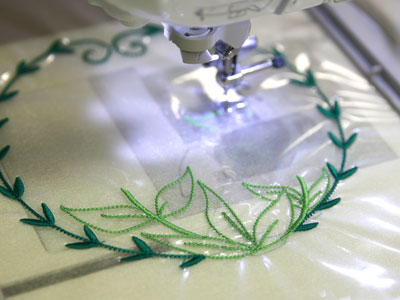 Free project instructions for Embroidering on Organza