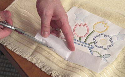 Free project instructions for multi-piece classic applique embroidery designs.