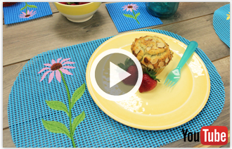Free video with instructions on how to embroider on rubber waffle.