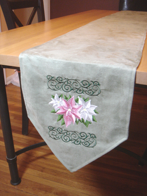 Add A Touch Of Elegance To Your Dining Table During The Holiday Season With  This Elegant Table Runner!