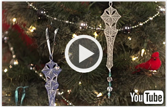 Free video with instructions on how to embroider freestanding lace icicles.