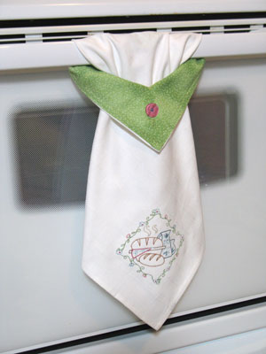kitchen towel machine embroidery designs