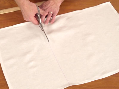 Free project instructions to embroider a topsy towel.