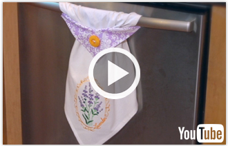 Free video with instructions on how to embroider a topsy towel.