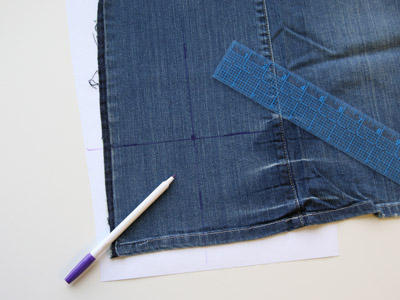 Free project instructions for how to embroider on jeans.
