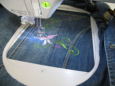 Machine embroidery designs at embroidery library embroidery library free project instructions to embroider on denim seams ccuart Gallery