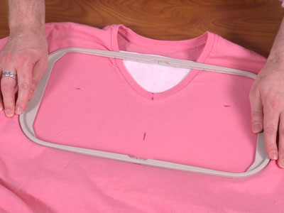 Free project instructions on how to embroider necklines.