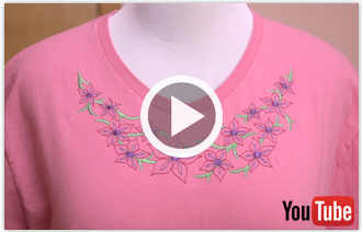 Free video with instructions on how to embroider neckline designs.