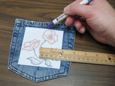 Free project instructions to create denim placemats.