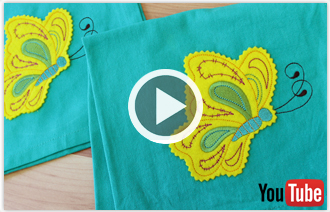Free video with instructions on how to embroider crafty cut embroidery designs.