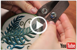 Free video with instructions on how to embroider a in-the-hoop Towel Topper