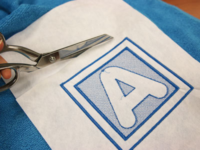 Free project instructions to stitch embossed embroidery.