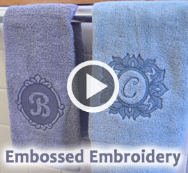 Embossed Embroidery