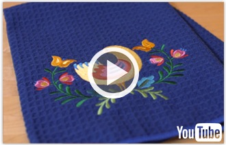 Free Video With Instructions On How To Embroider On Waffle Weave Fabric.