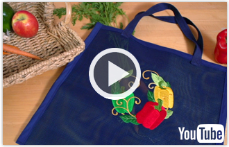Free video with instructions on how to embroider on nylon screen.